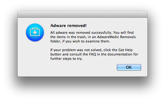 Adware Removed